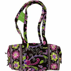 Vera Bradley PURPLE PUNCH HANDBAG Bag Rare Classic
